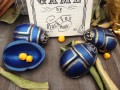 Scarab Shells BLUE by Black Fox Magic Set of 4