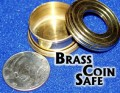 Coin Safe Half Dollar Size Made in Brass