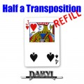 REFILL Half A Transposition (RED Back - 4S/JH) by Daryl - Trick