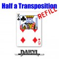 REFILL Half A Transposition (RED Back - 6D/KC) by Daryl - Trick
