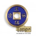 Normal Chinese Coin made in Brass (Blue) by Tango -Trick (CH009)