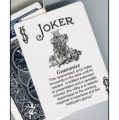 Joker Deck Guaranteed Joker Black and White with Bicycle Backs