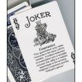 Joker Deck Guaranteed Joker Black and White with Bicycle Backs