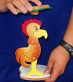 Chicken Sandwich Made of Wood 12 inches tall