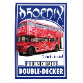 Phoenix Double Decker Red/Blue by Card Shark Magic